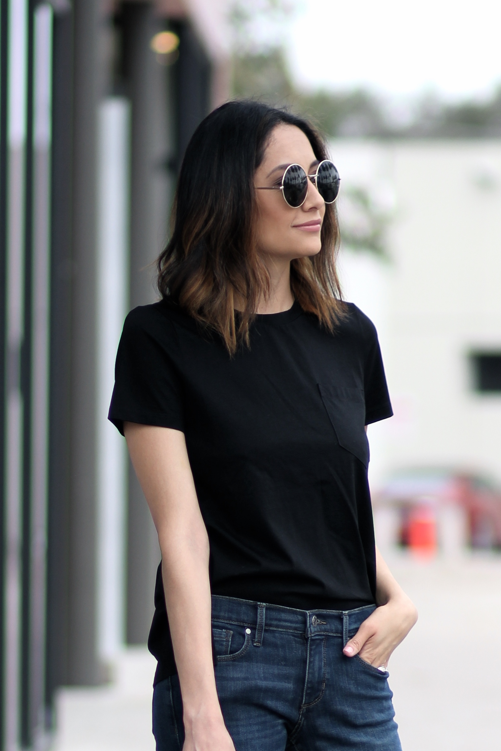 Lifestyle blogger Lilly Beltran of Daily Craving wearing cropped flares and a basic tee
