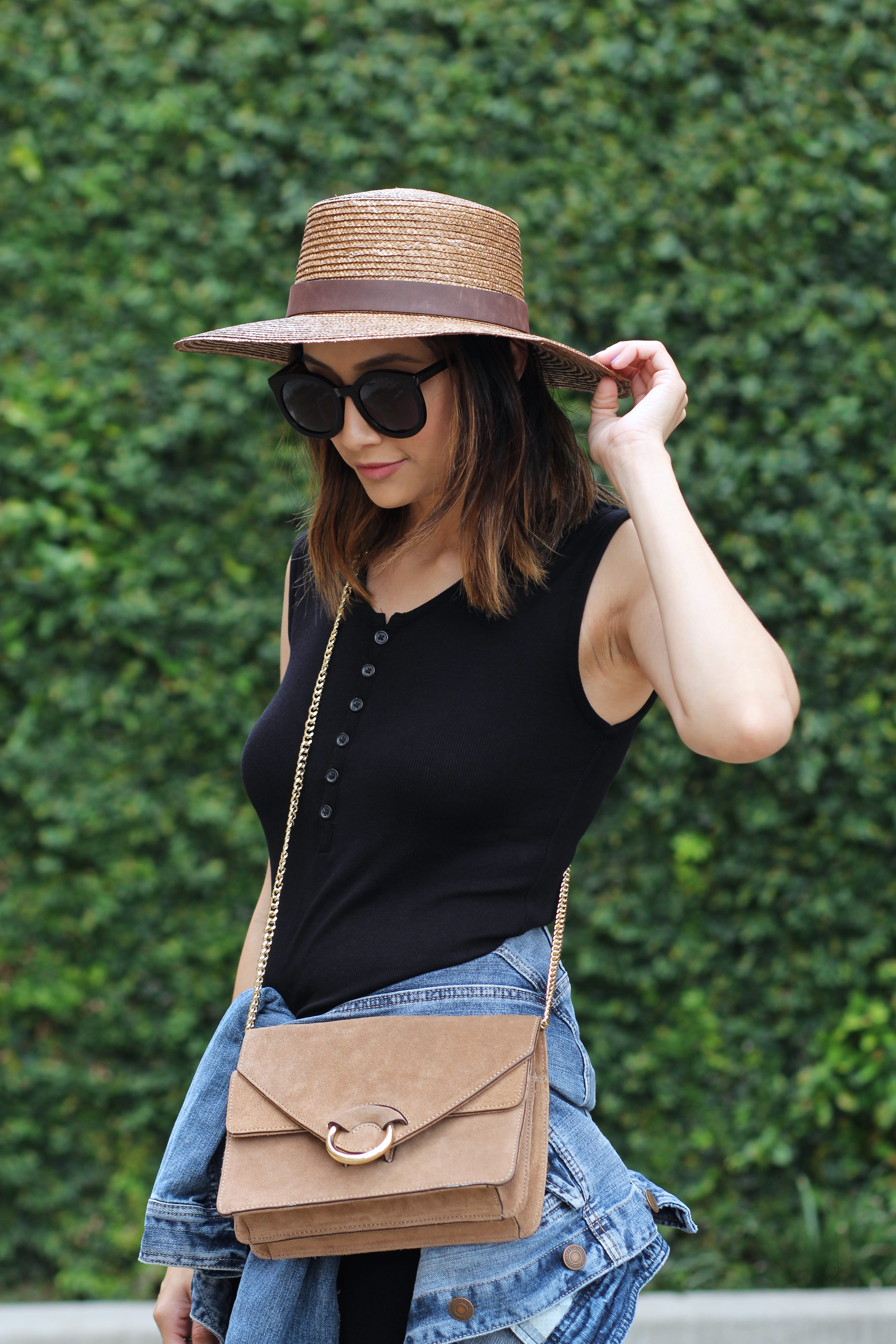 Summer Chic Boater Hat