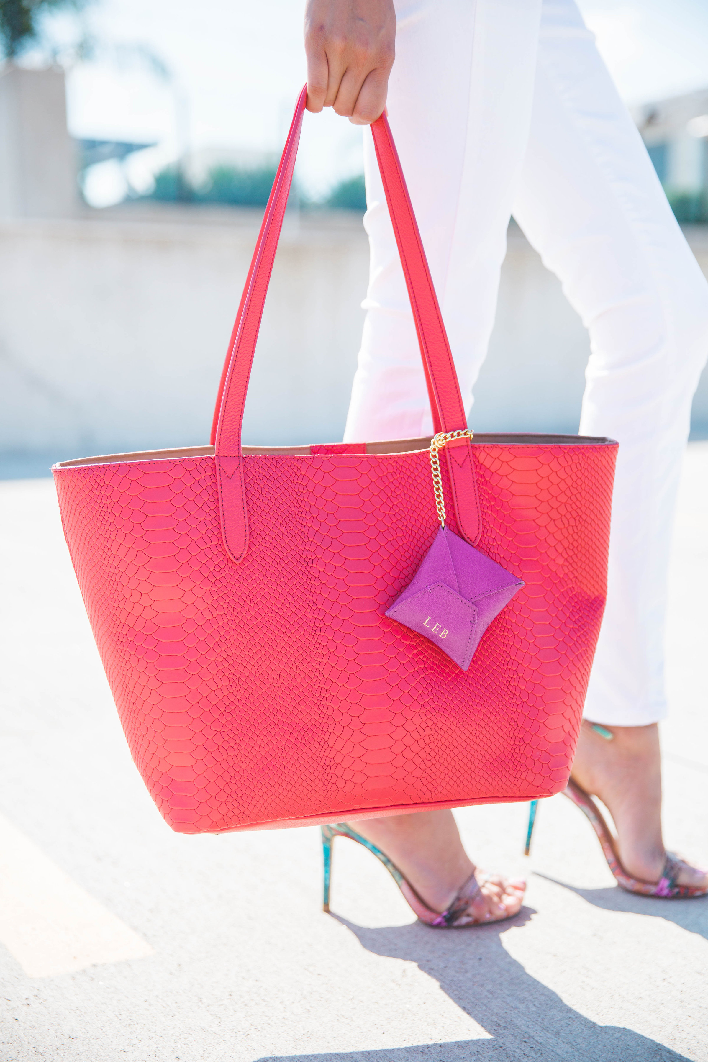 Color Blocked Look | Gigi New York Tote