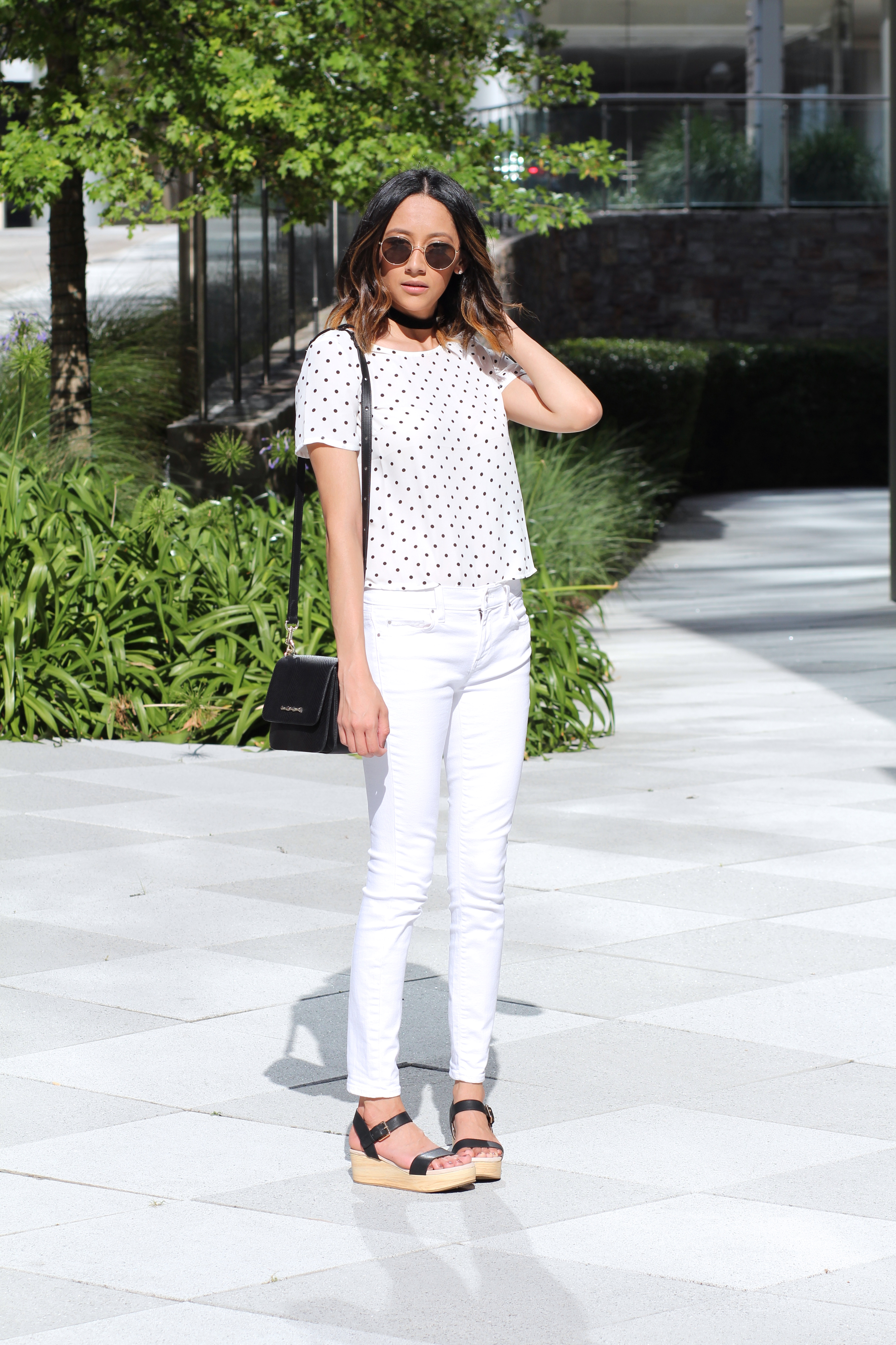 All White Summer Look | Platform Sandals | Minimal Chic