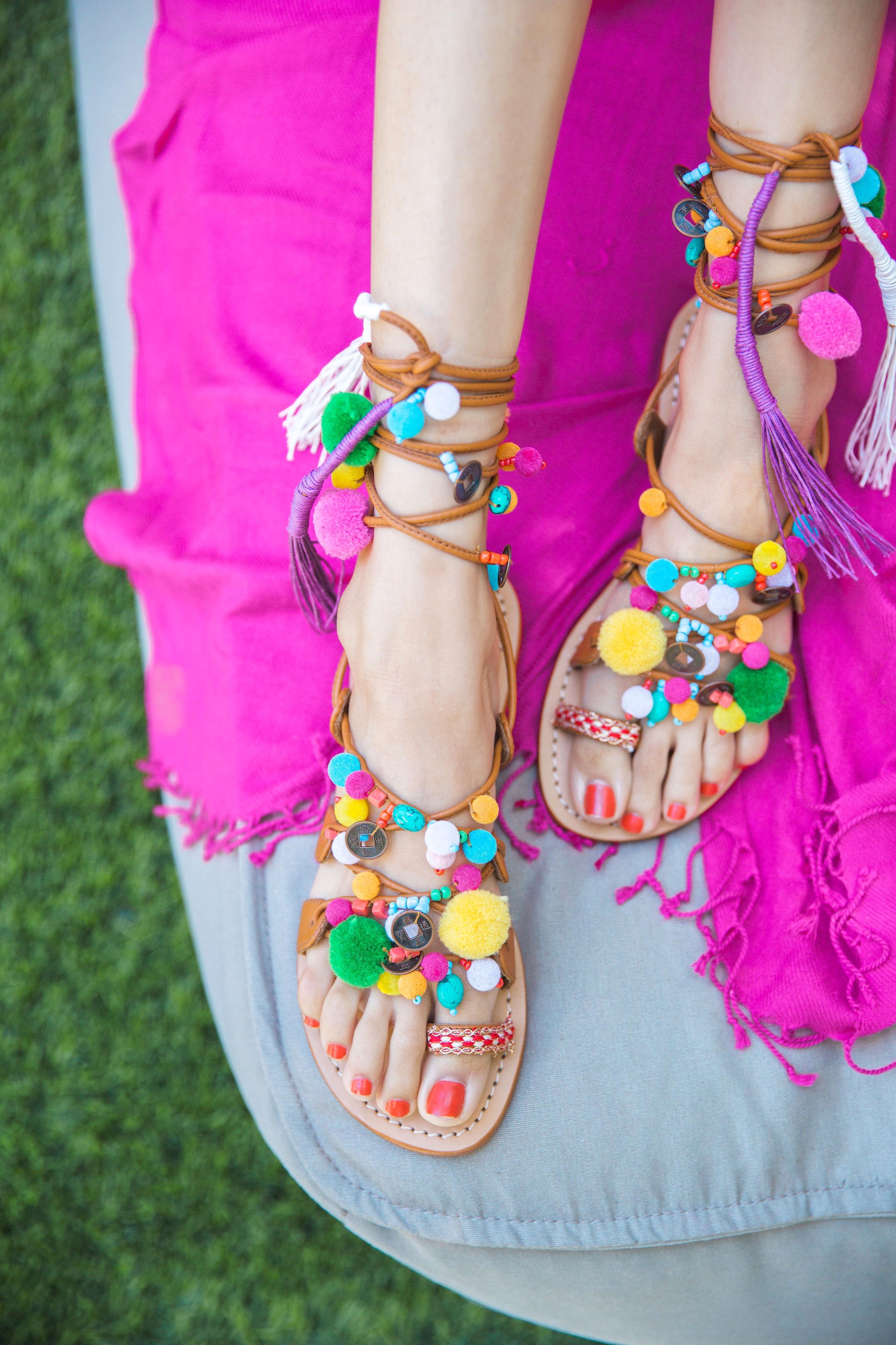 Pompom Sandals | Trina Turk Sandals