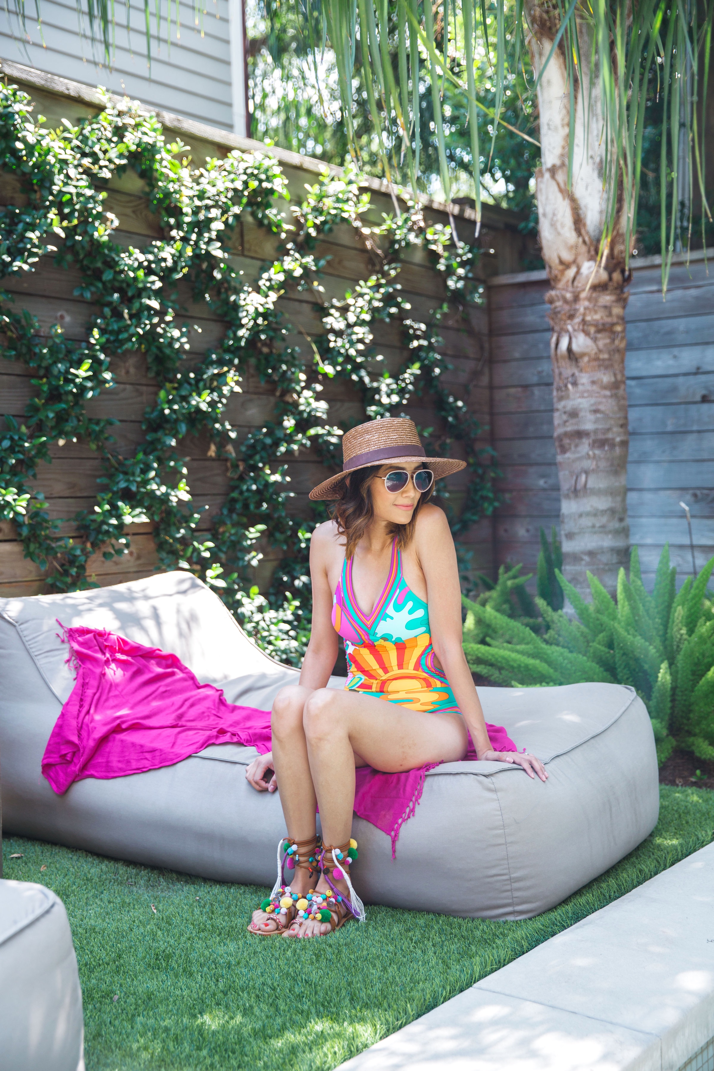 Beating the heat in Trina Turk | Colorful Summer