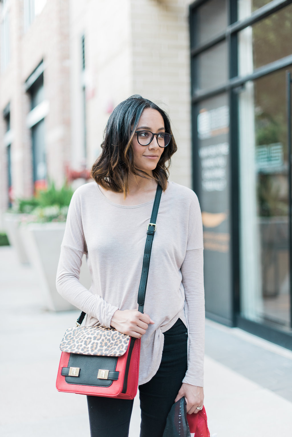 Easy Fall Look | Charming Charlie Crossbody Bag