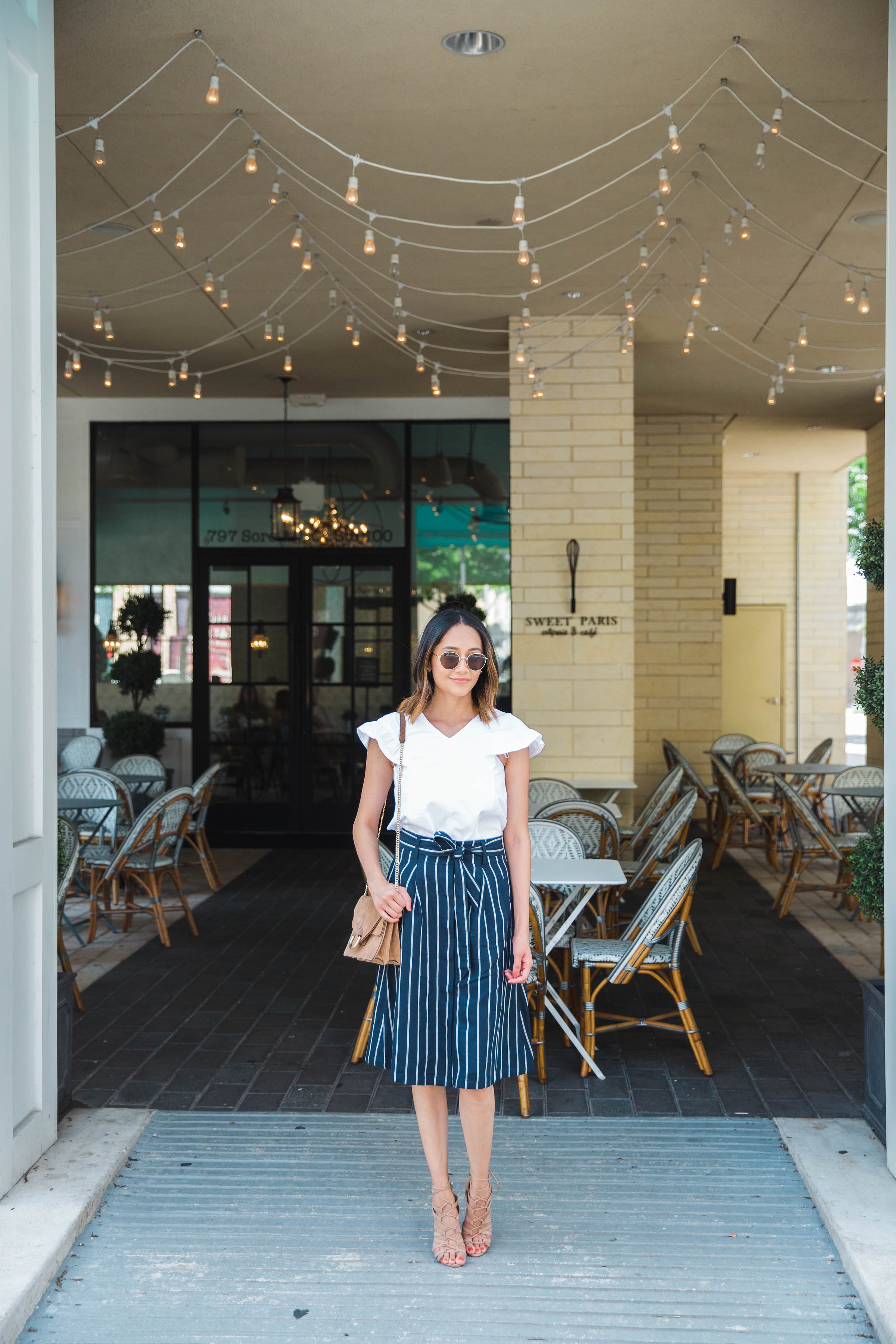 Ruffle Sleeves | A Line Skirt | Summer Look | Date Night Look