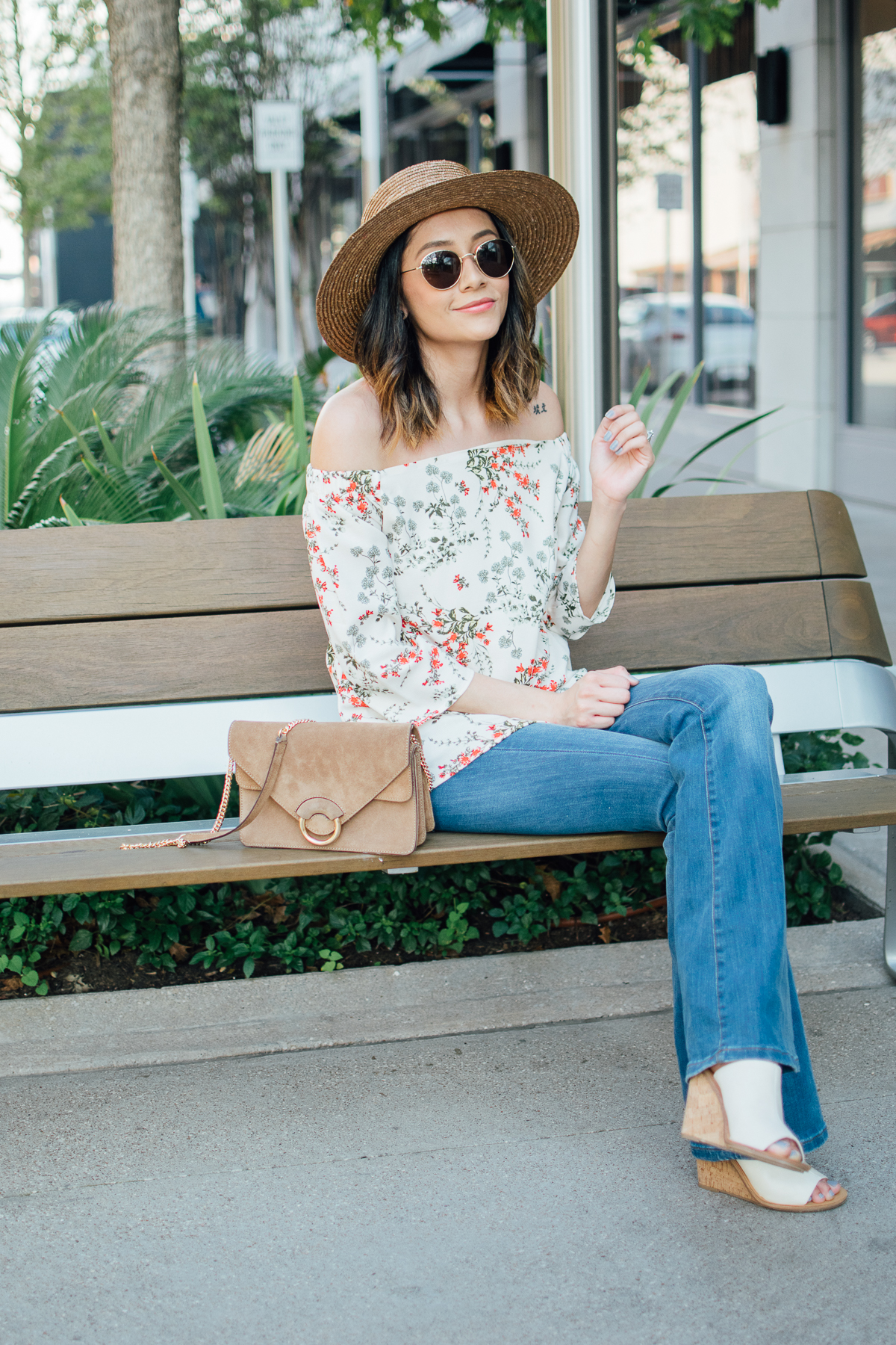 How to wear an off-the-shoulder-top for fall