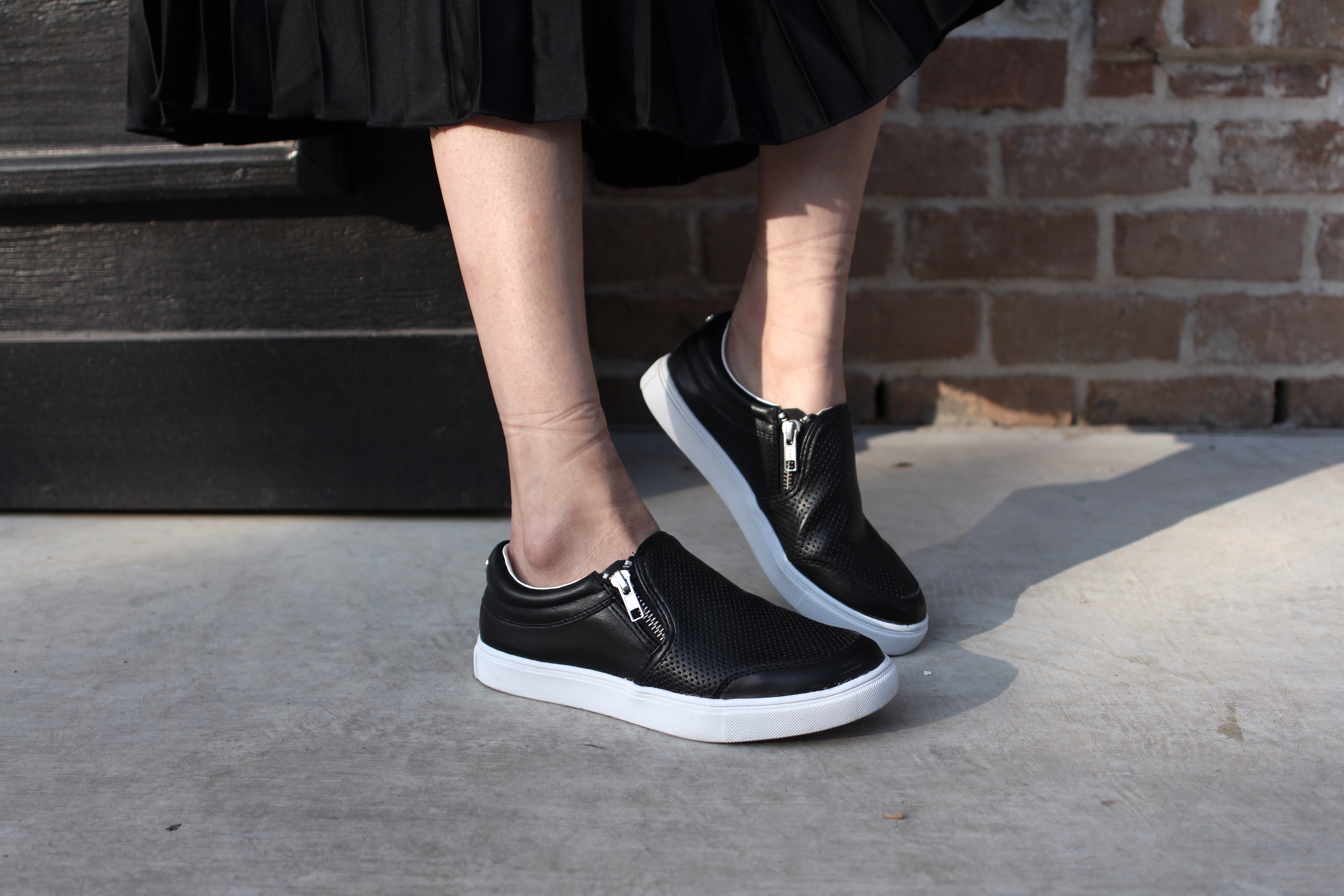 Payless slip-ons to complete the off-duty look