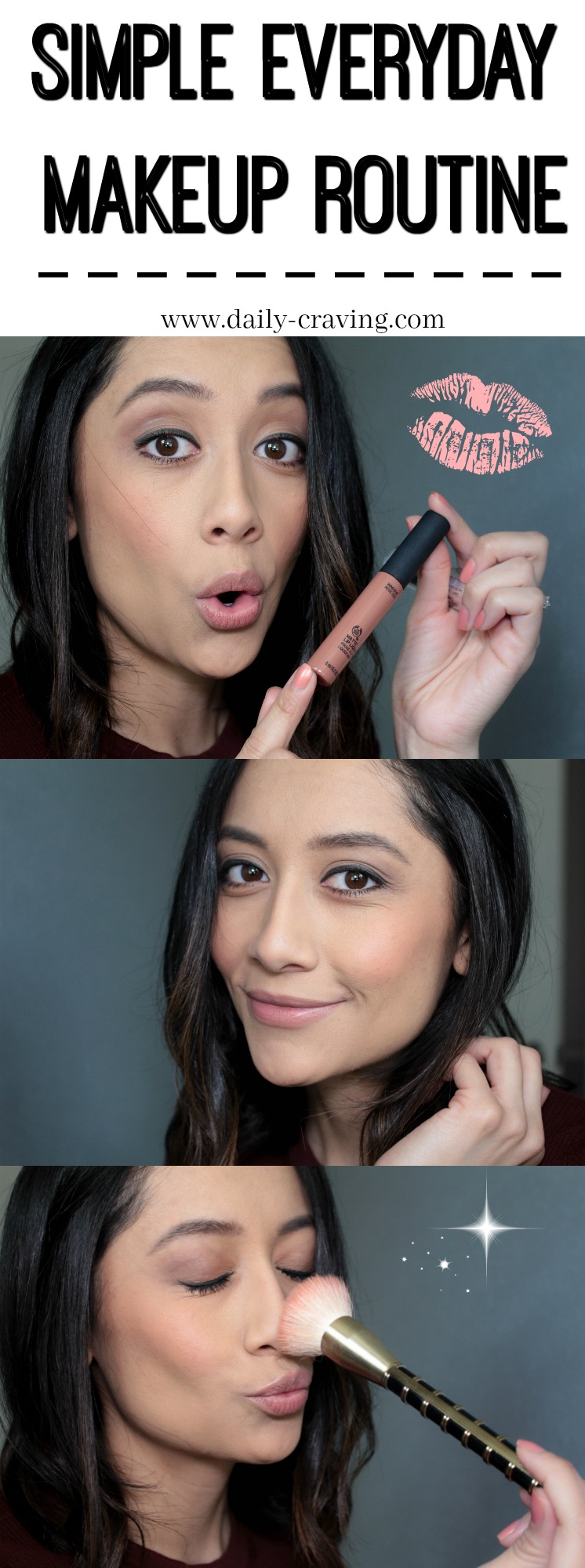 Lifestyle blogger Lilly Beltran of Daily Craving shares her daily makeup routine