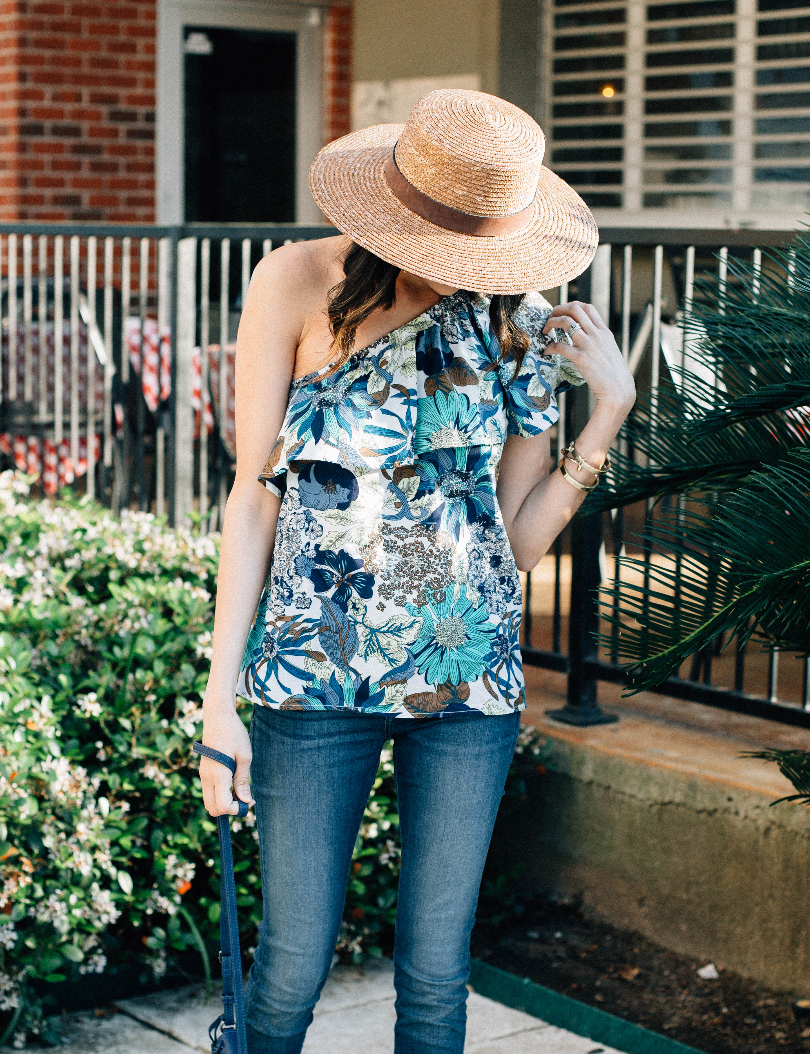 perfect one shoulder top for spring