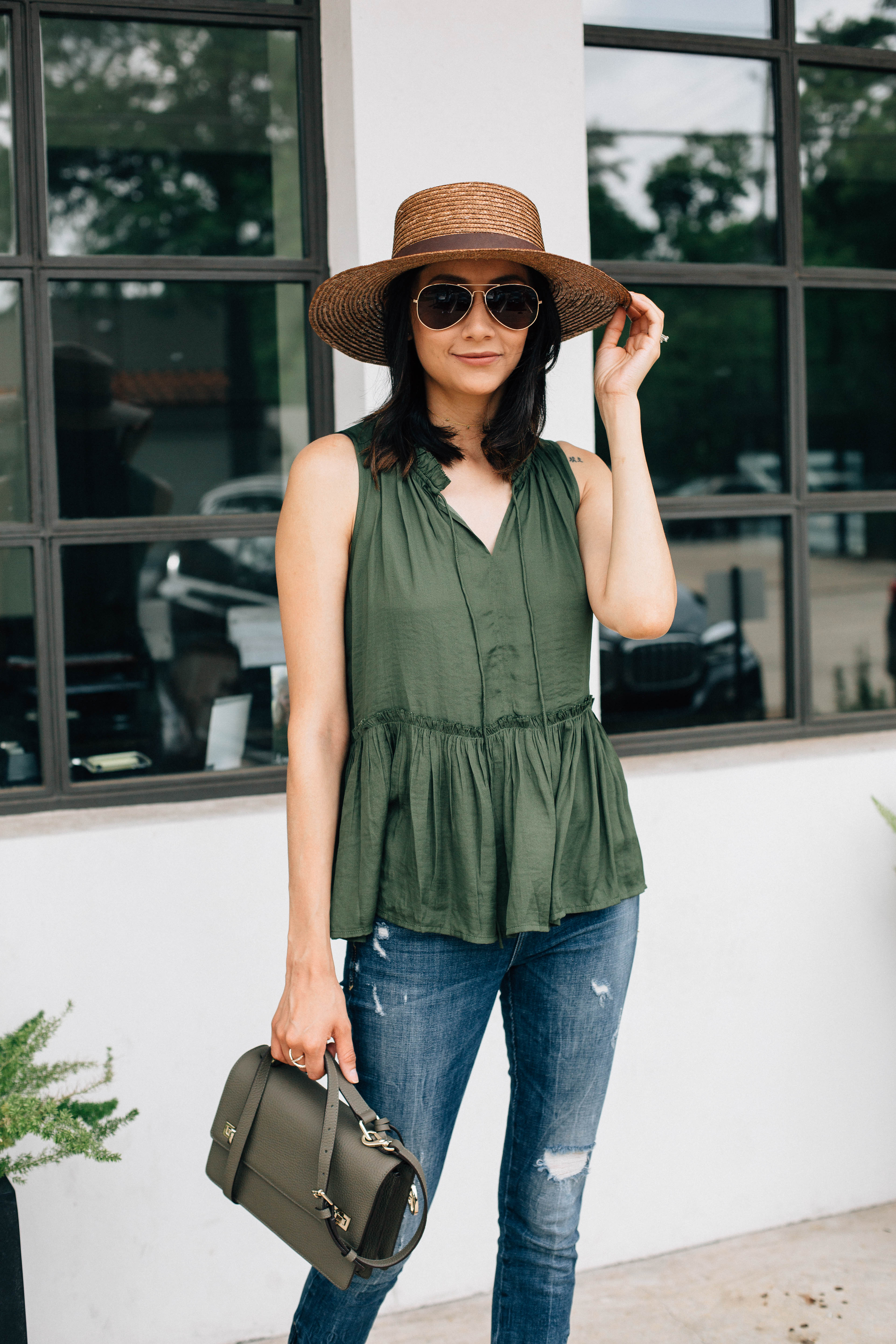 Loft Top | Henri Bendel Bag