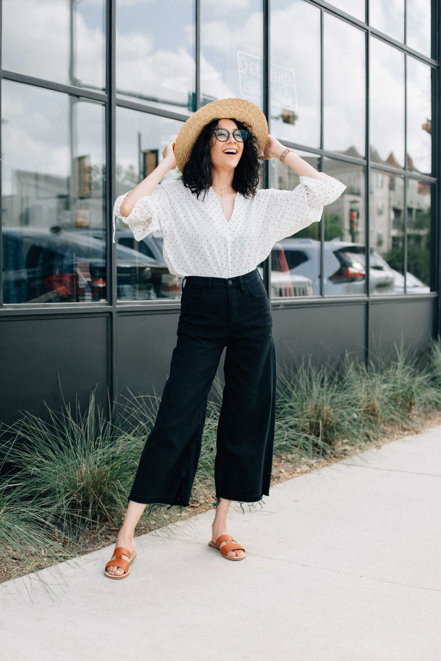 Dramatic Sleeves + Wide Leg Denim