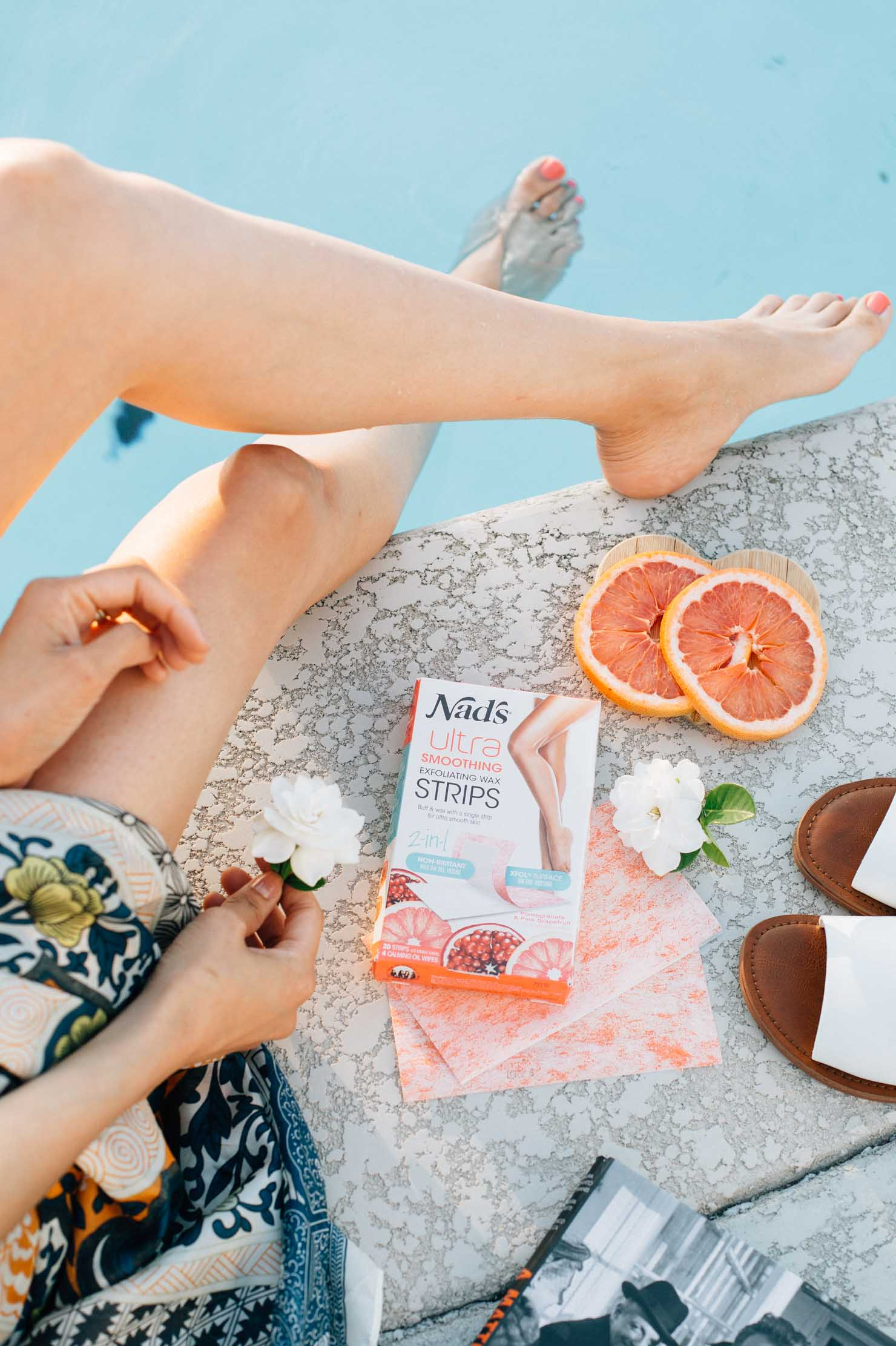 Smooth skin with Nad's Exfoliating Wax Strips | Beauty Blogger Lilly Beltran