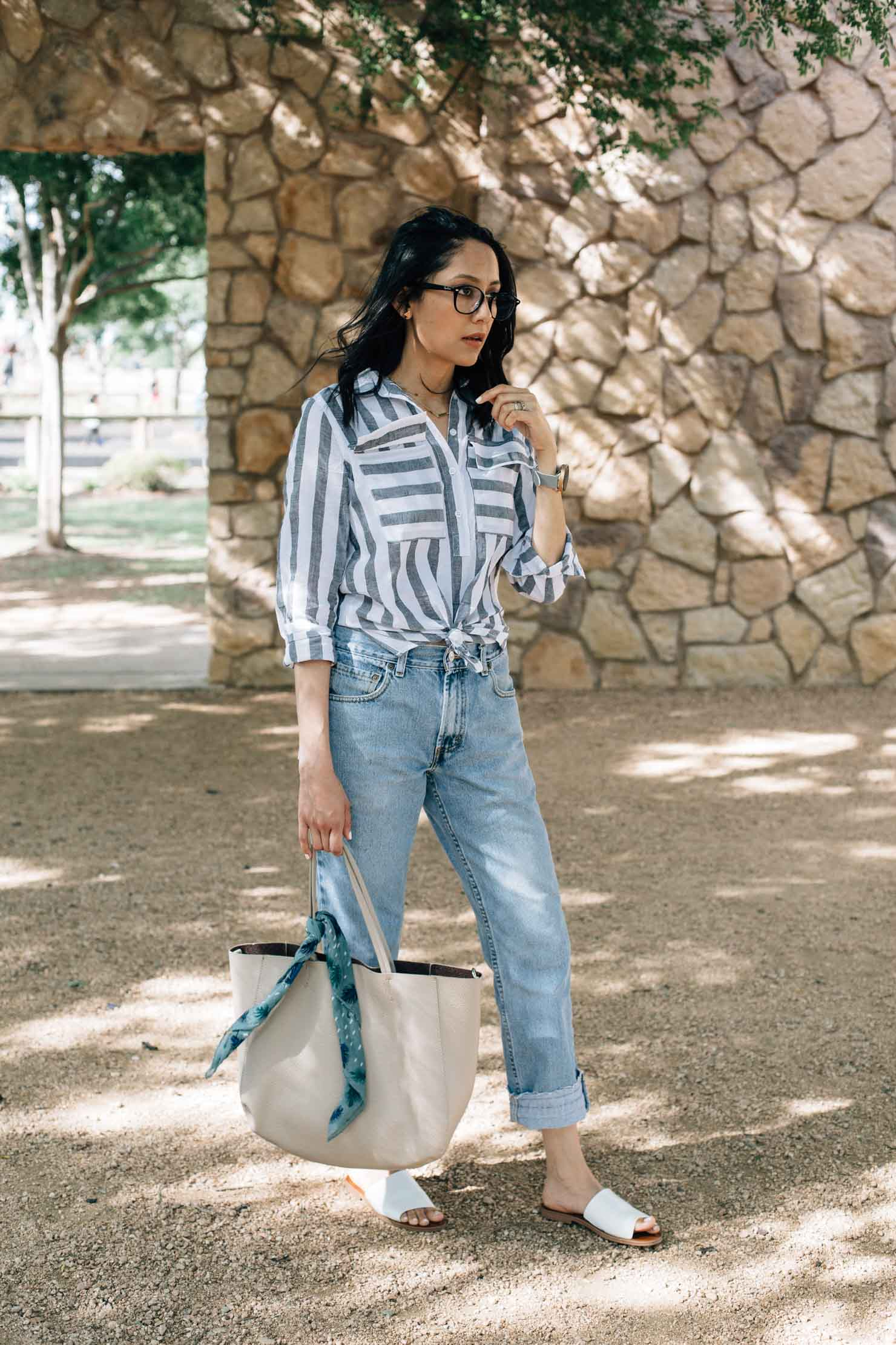 One thing that really helps when I'm feeling overwhelmed | Vintage Levi's Denim | Summer Look