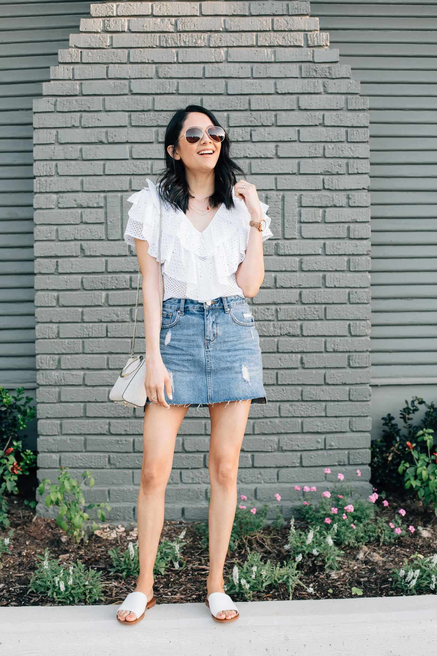 Lilly Beltran fashion, lifestyle blogger of. Daily Craving | Houston fashion blogger | Zara white eyelet tops | street style blog