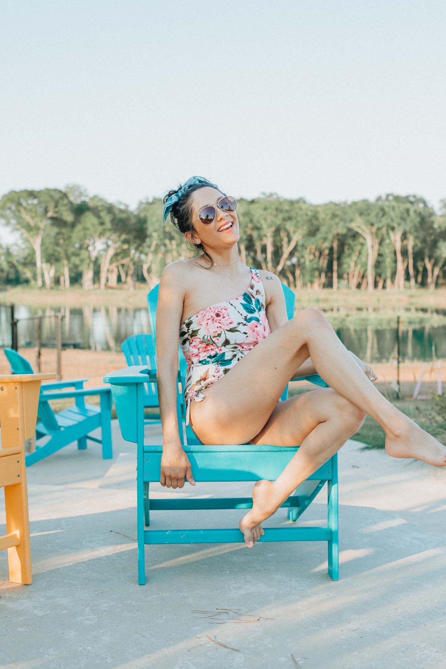 Floral one-piece swimsuits under $50 | Lilly Beltran, fashion blogger | Houston lifestyle blogger