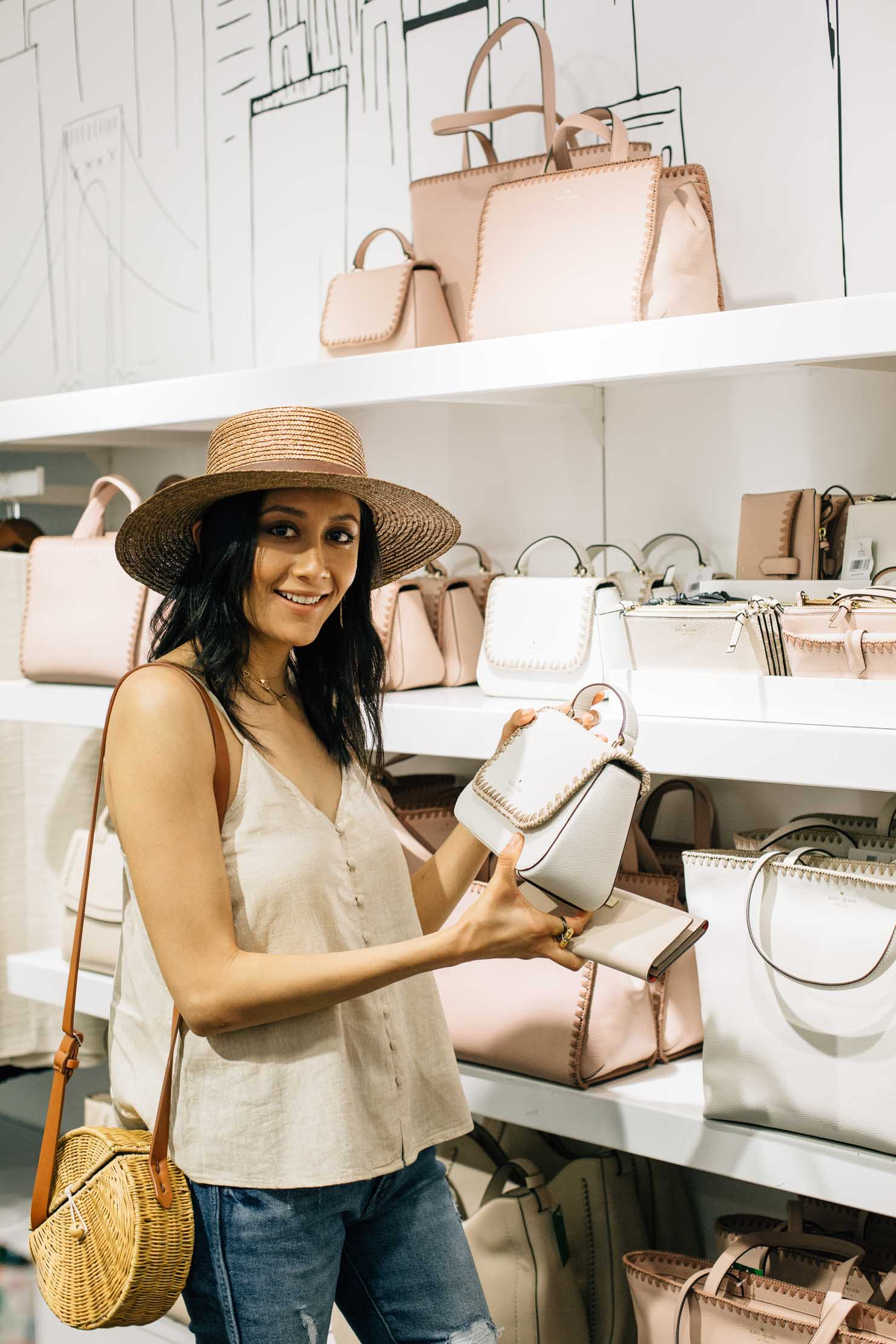 Houston fashion and lifestyle blogger Lilly Beltran shops at Houston Premium Outlets