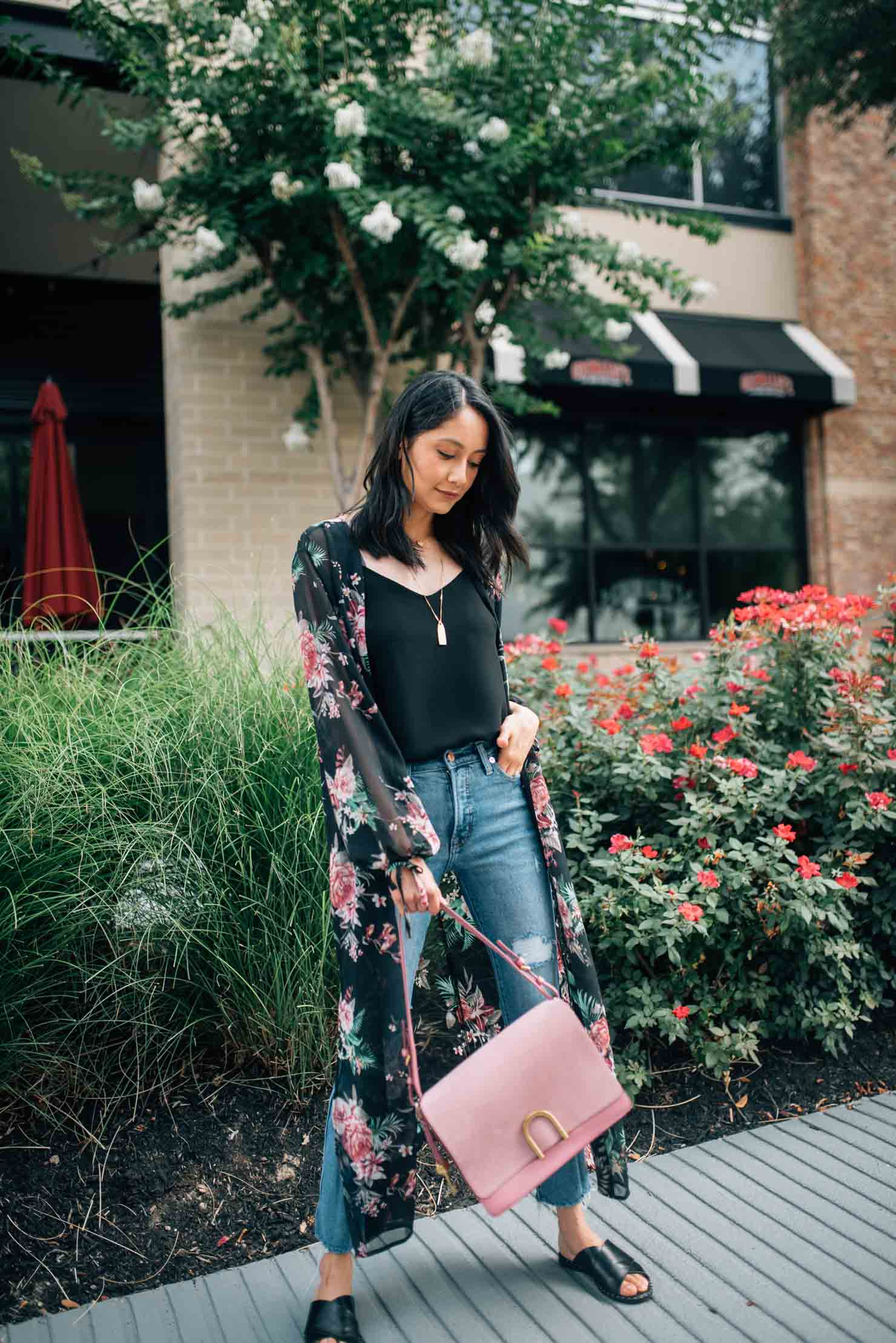 Floral Kimono | Summer Look |street style | Lilly Beltran, fashion blogger | Houston Blogger