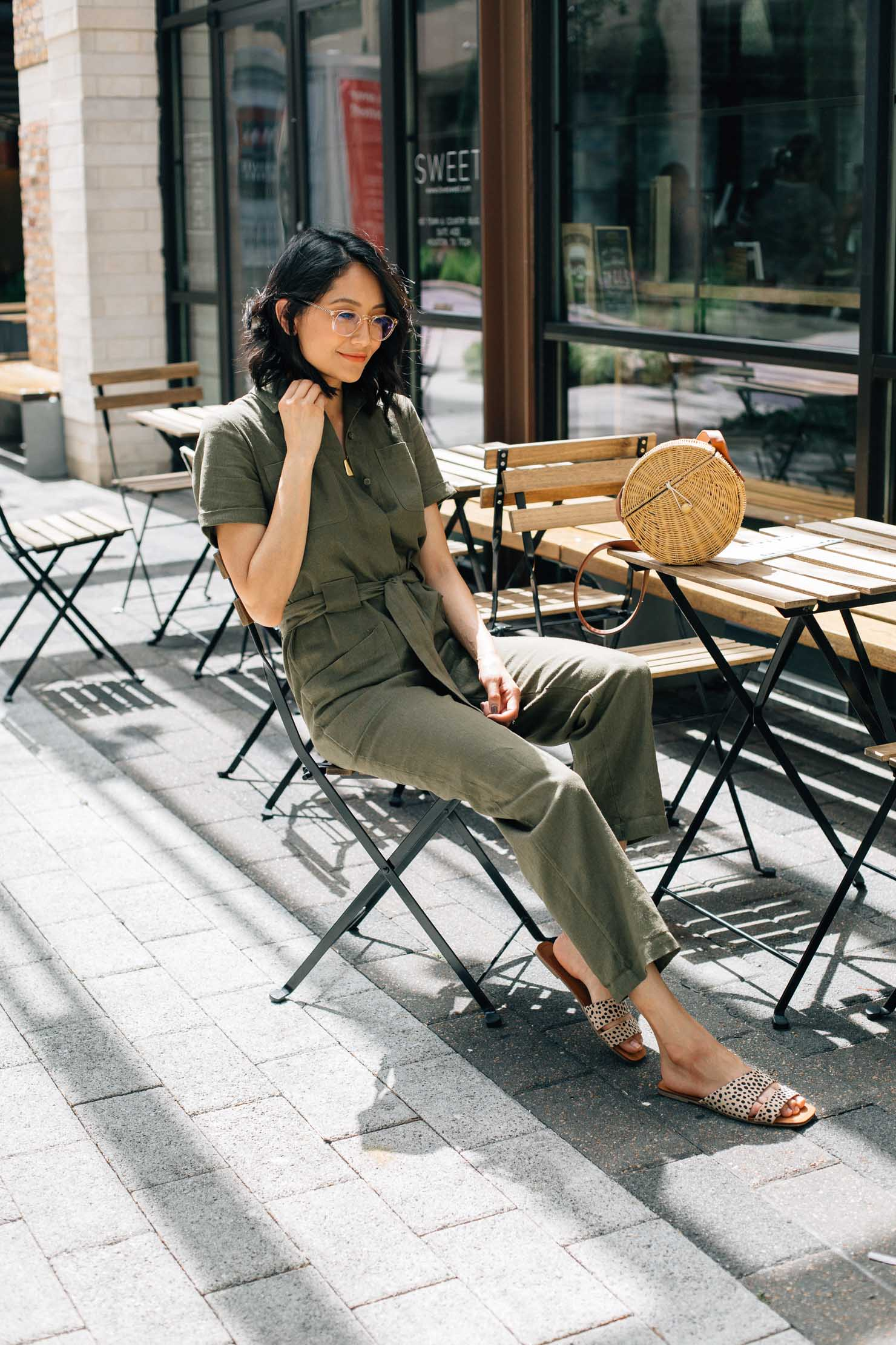 Lilly Beltran, fashion & lifestyle blogger | Linen Jumpsuit | Summer style | Street Style | Houston blogger