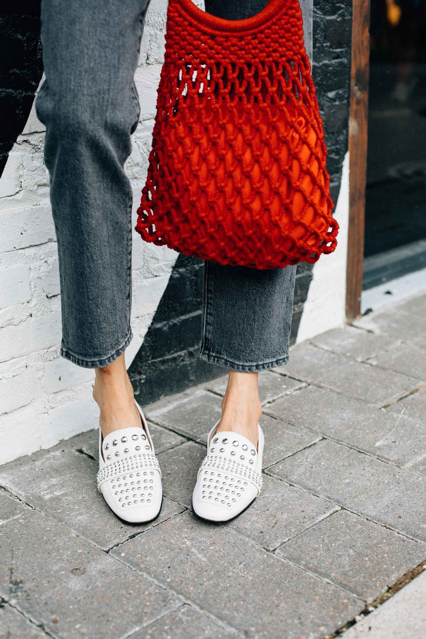 Sam Edelman studded loafers | Street styles to copy now | Lilly Beltran, Houston lifestyle blogger | Street Style
