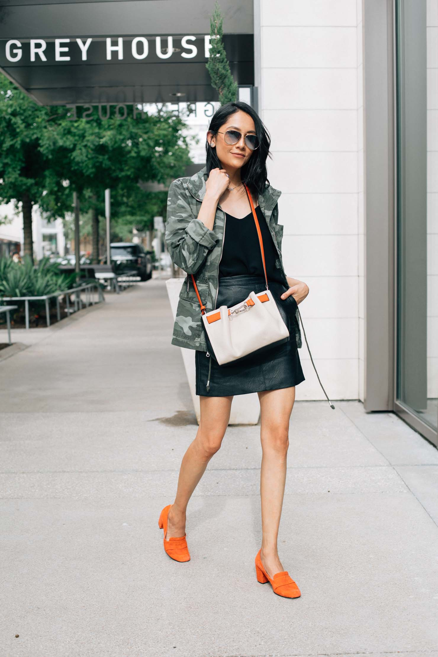 Chic way to wear a camo jacket for fall a la Daily Craving