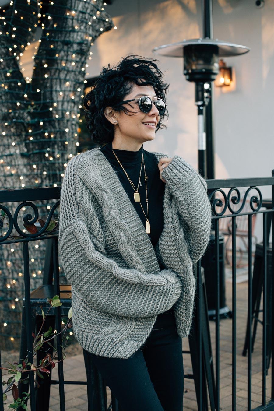 Chicwish chunky knit cardigan.