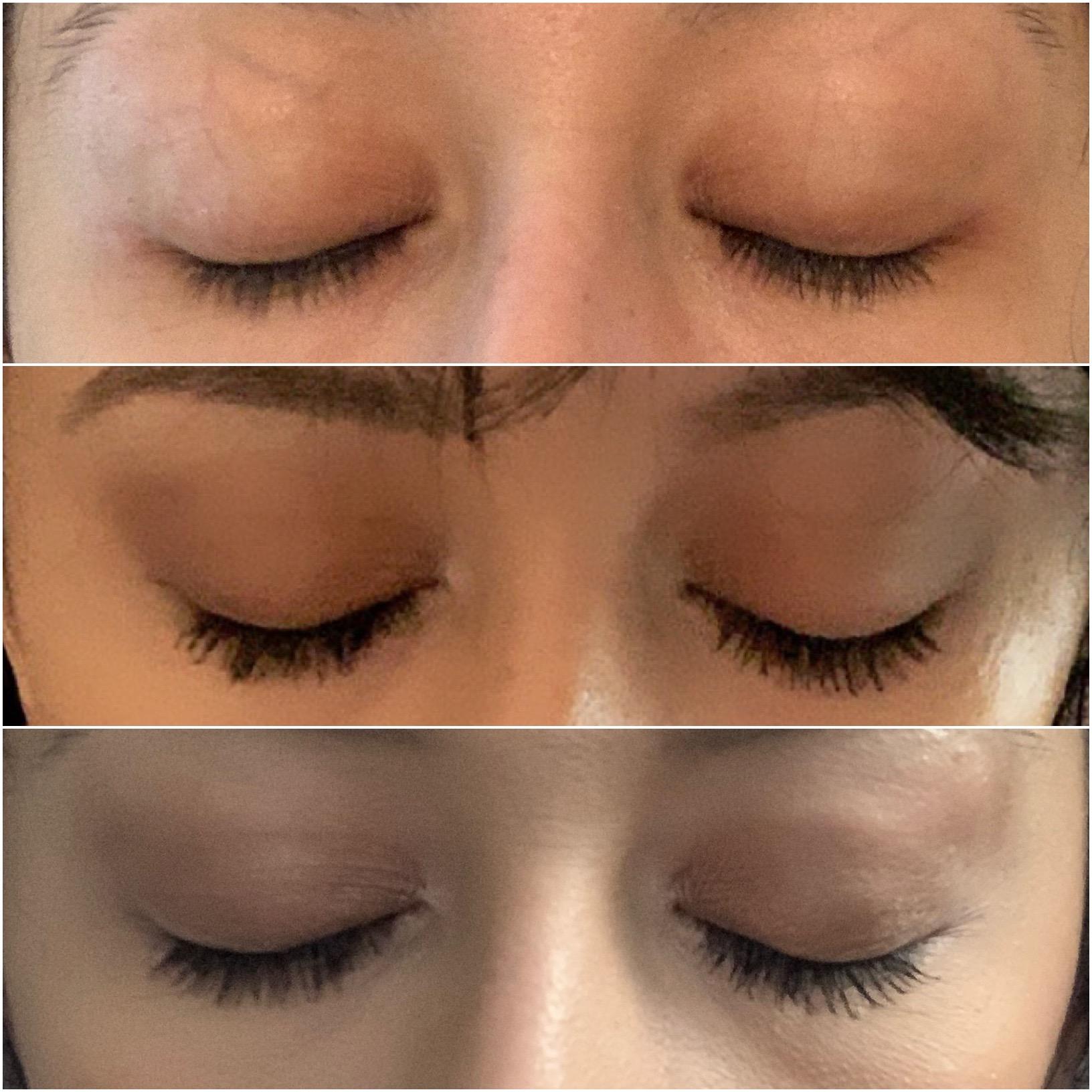 Results using Public Beauty eyelash growth serum