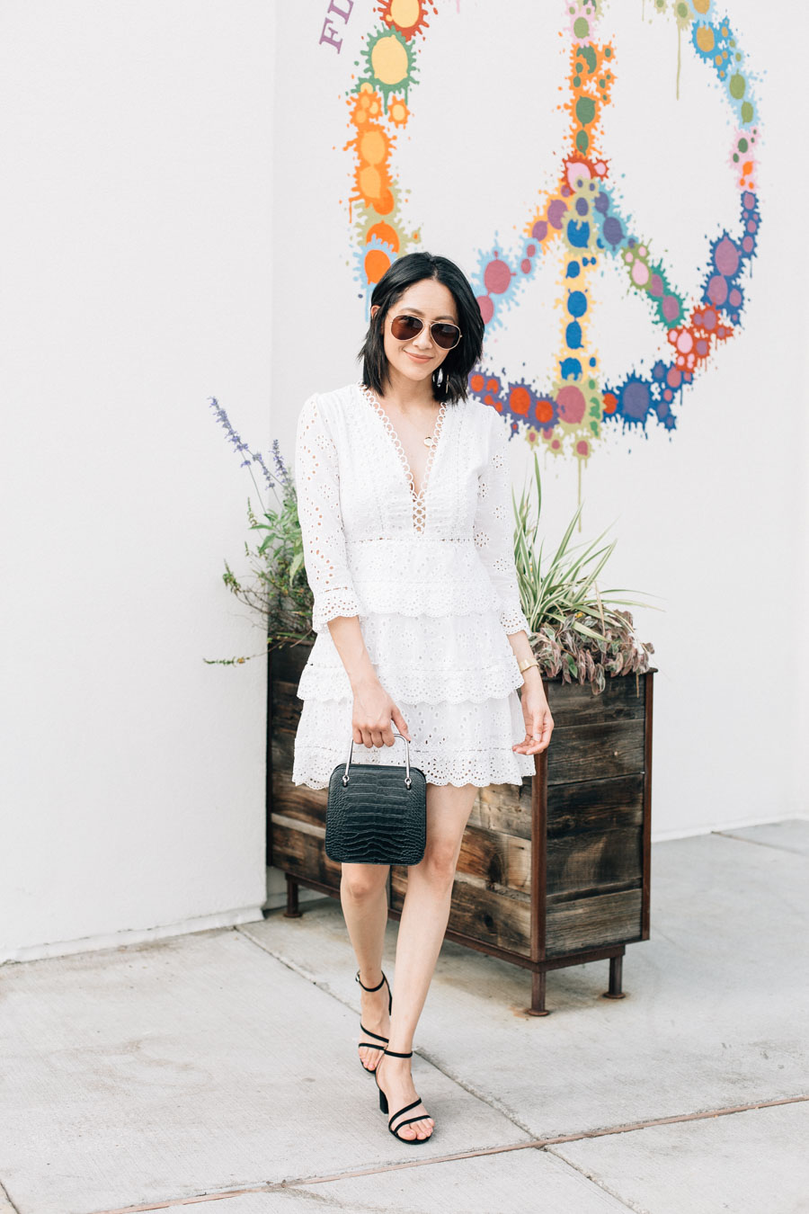 White Mini Dress + Why I Quit Dairy
