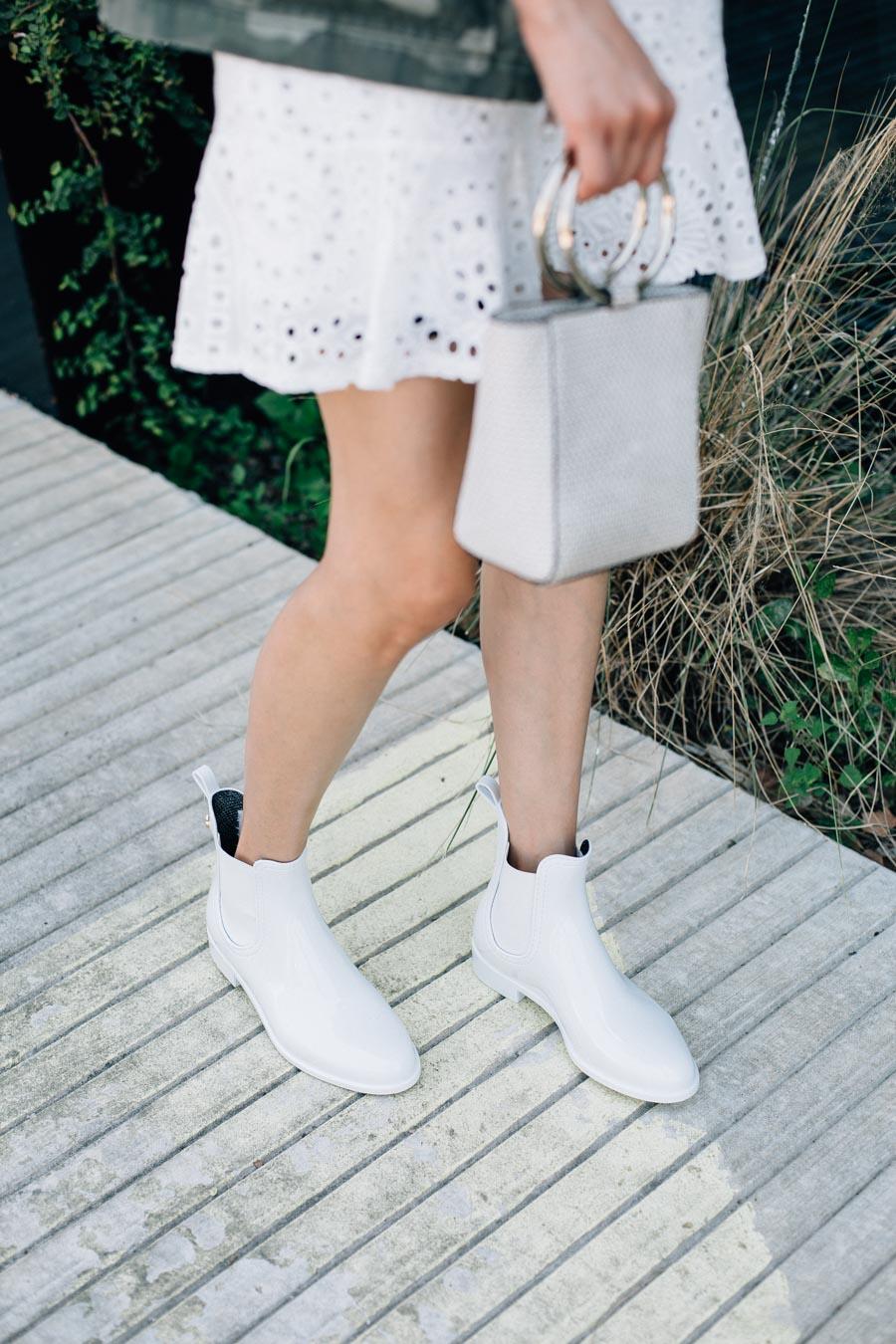 Lemon Jelly white rain boots