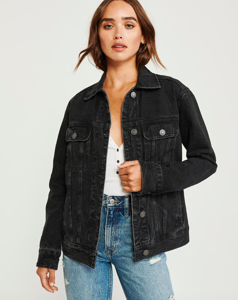Abercrombie fall 2019 oversized denim jacket