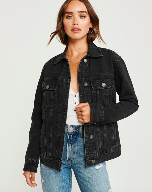 Abercrombie fall 2019 oversized denim jacket