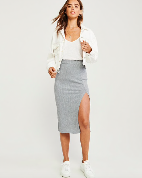 Abercrombie Ribbed Knit Skirt