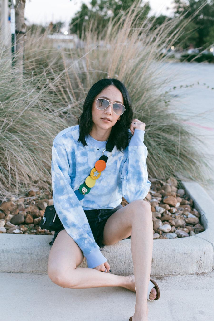 Target tie-dye sweatshirt + Being mom first