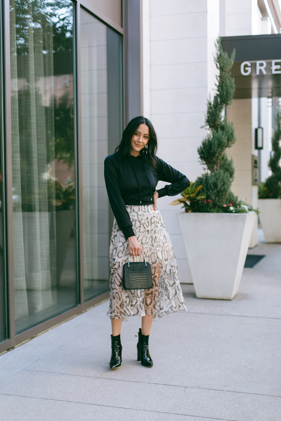 Lilly Beltran shares 3 ways to wear the snake print trend this season.