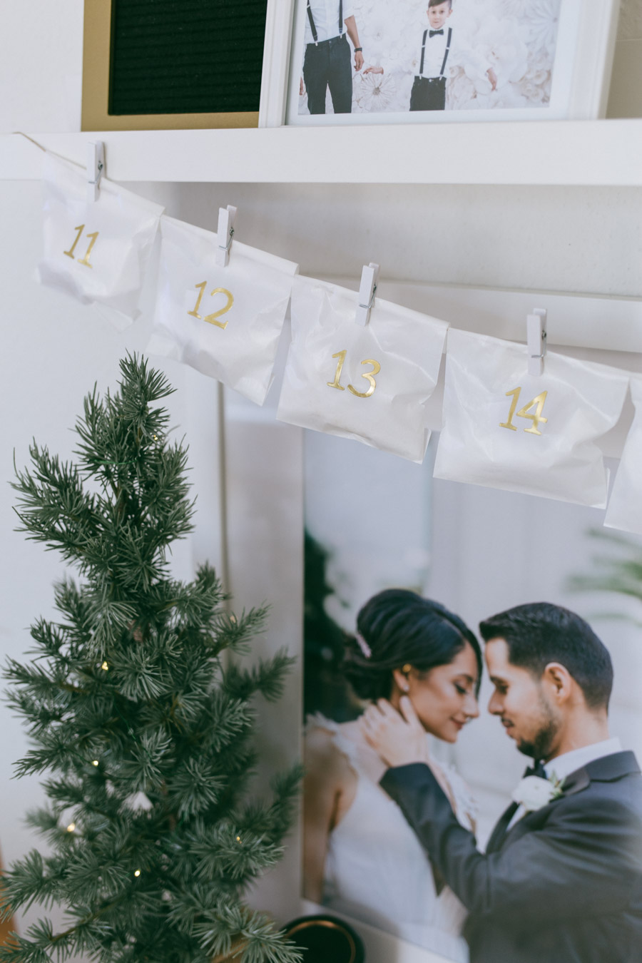 Minimalist advent calendar idea under $20