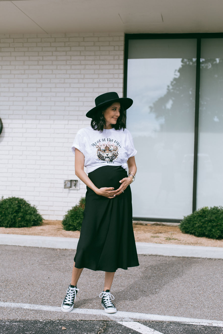 Edgy pregnancy style | How to dress the bump