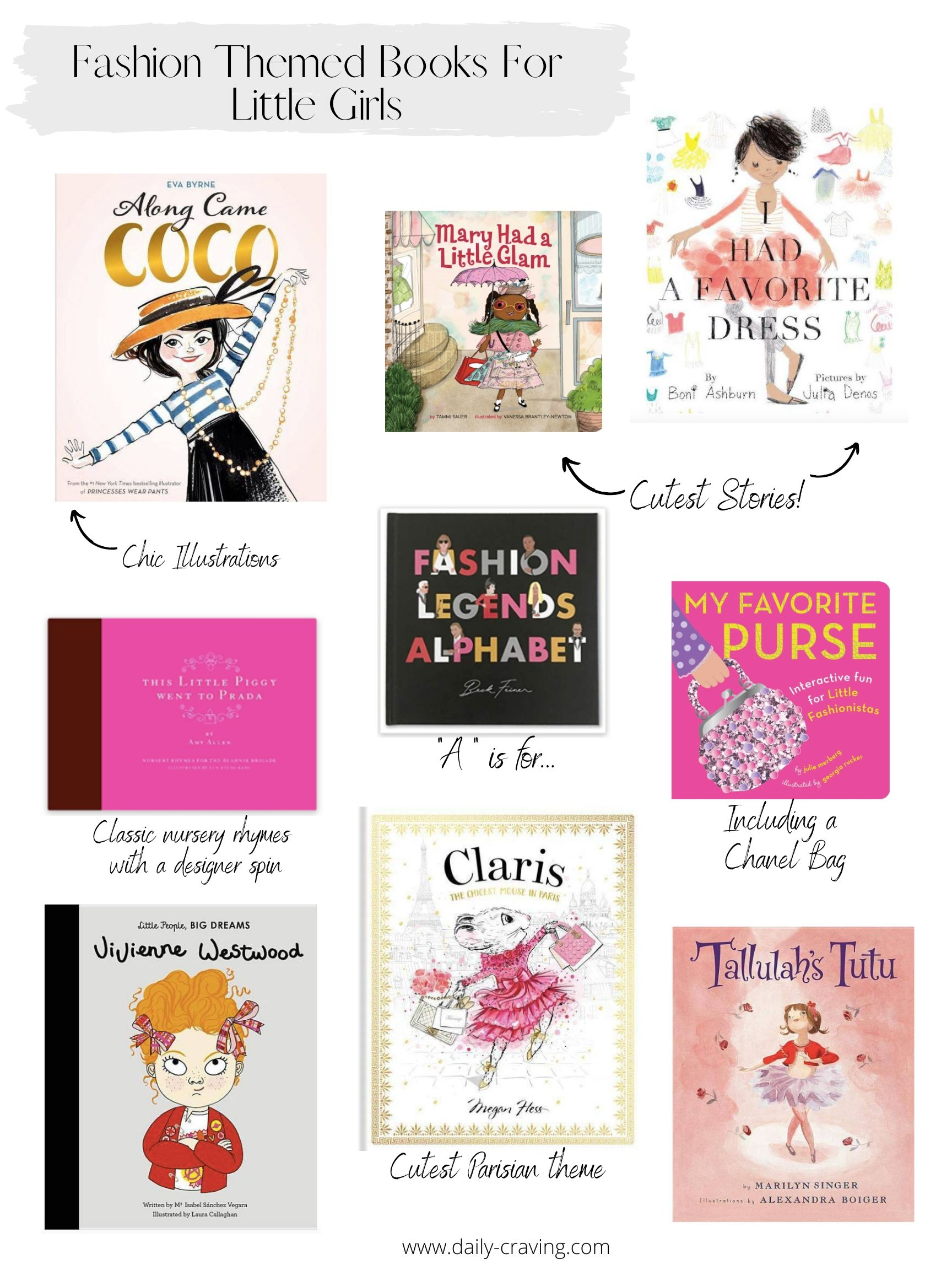 Fashion themed books for little girls | Daily Craving
